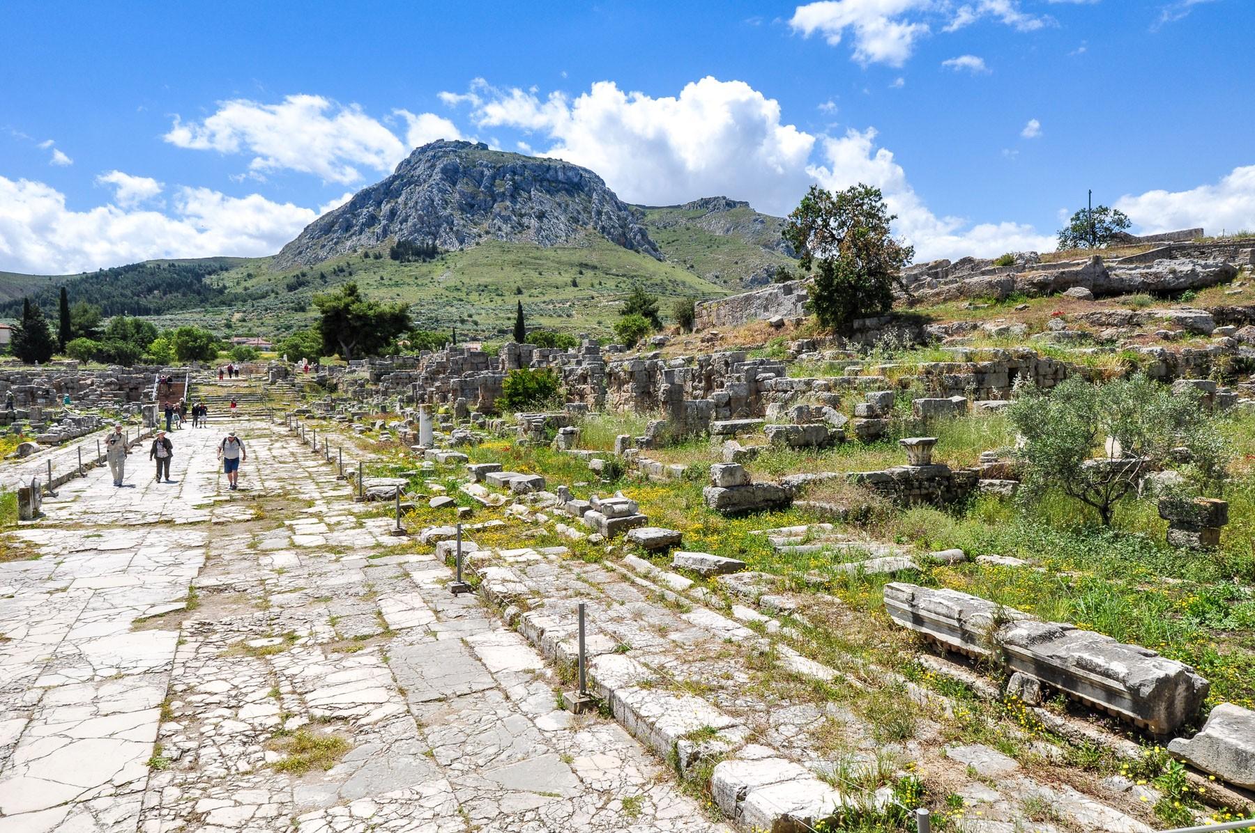Lechaion Way and Acrocorinth
