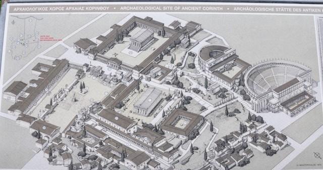 Plan of Ancient Corinth