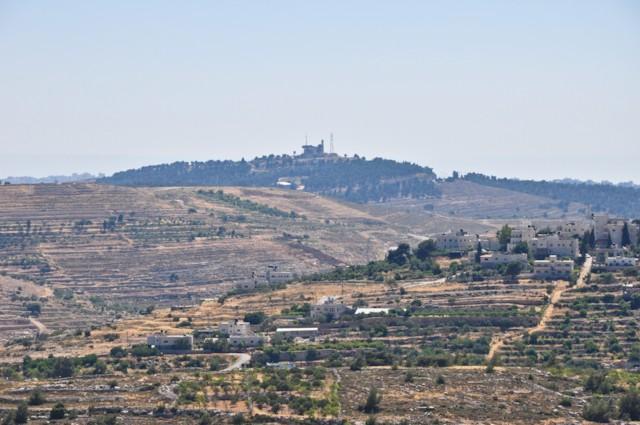 View to Nebi Samwil Detail