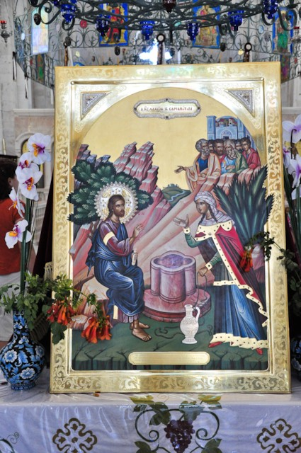 Image/Icon of Jesus & Samaritan Woman