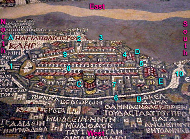Madaba Map Marked