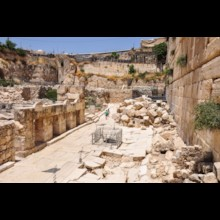 Rubble on the street from the New Testament Era
