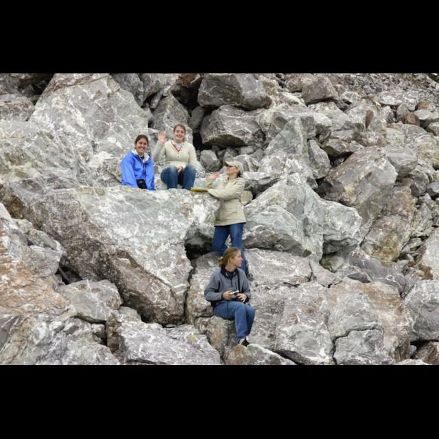 Ladies Exploring the Rocks