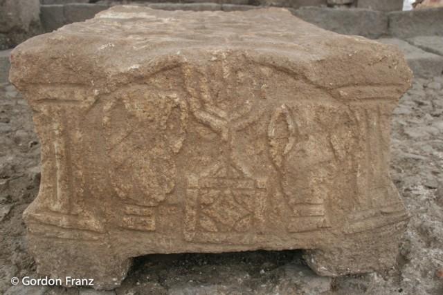 Stone Box Menorah