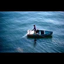 Fisherman on Sea of Galilee