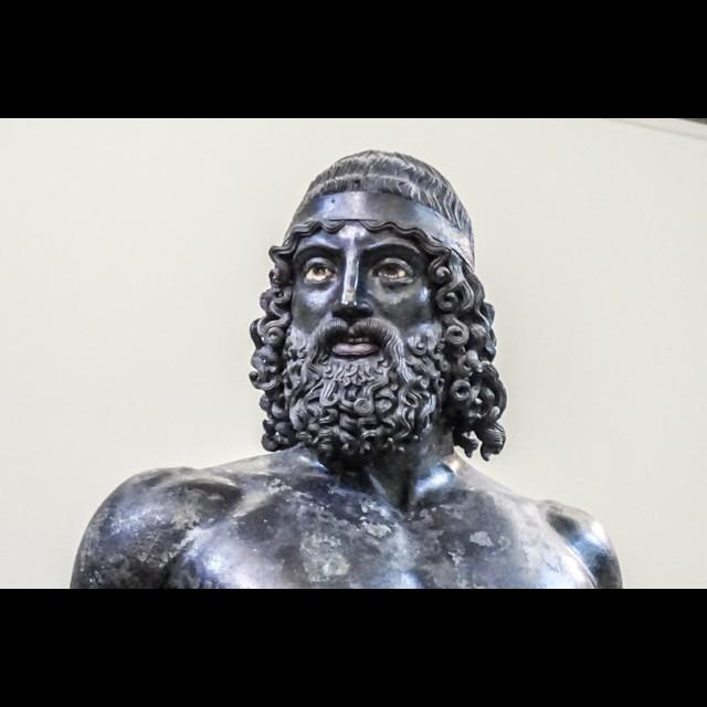 Riace Bronze Statue A Head