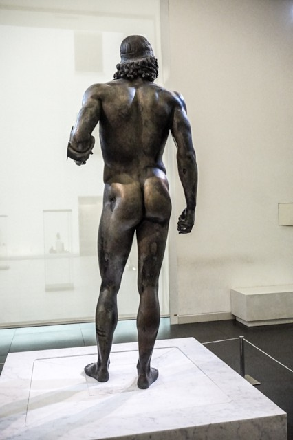 Riace Bronze Statue A From Back