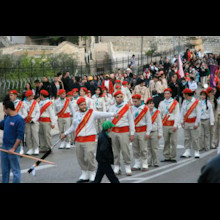 Procession of Teenage Scouts