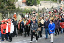 Pilgrims in Procession 2