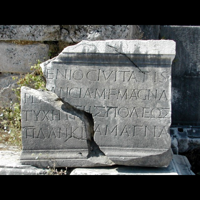 Plancia Magna Inscription 1