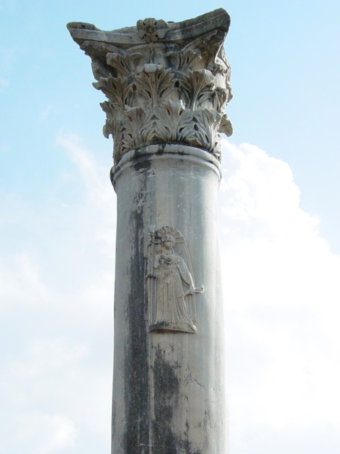 Column with Artemis Figure