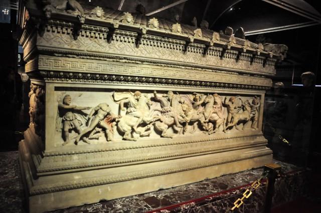 Alexander Sarcophagus Lion Hunt