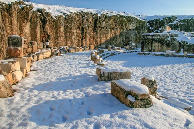 Portico in Snow