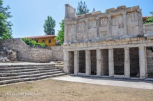 Southern Portico and Steps to Temple