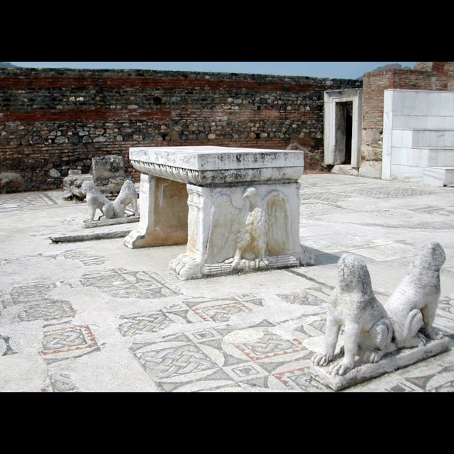 Synagogue Table and Lions