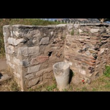 Wall with Menorahs