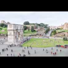 Arch of Titus From the Colosseum