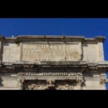 Arch of Titus Inscription