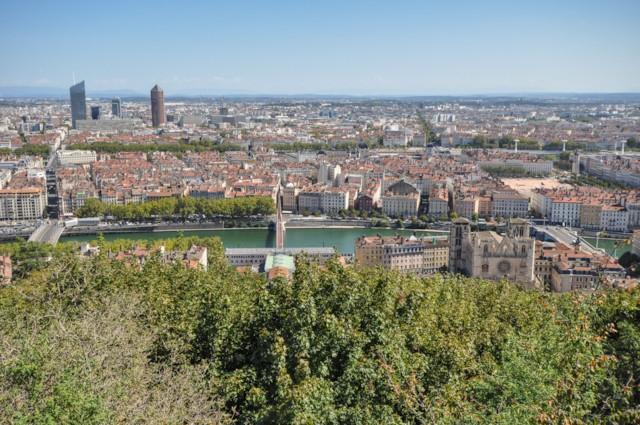 Lyon and Saôn River