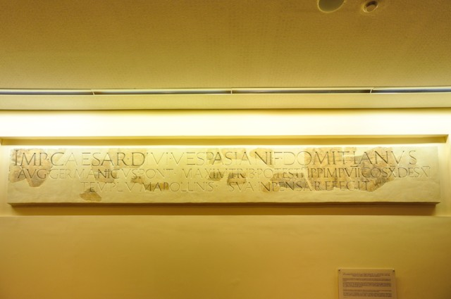 Domitian Inscription