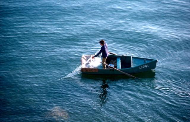 Fisherman on Sea of Galilee