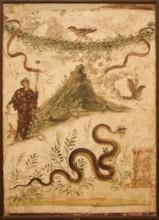 Mount Vesuvius Fresco