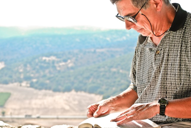 Scripture Reading at Valley of Elah