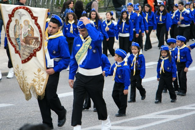 Procession of Young Scouts