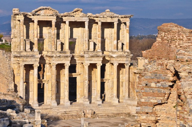 Library of Celsus (detail)