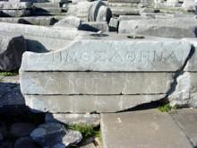 Left Side of Inscription