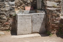 Basin with Crosses